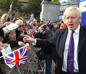 Boris Bullingdon meets some (admittedly mad) real people; see the shock in his eyes, just look at his eyes...