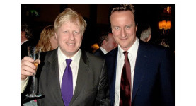 Air war: Boris Johnson and David Cameron
