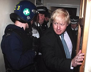 "OH MY GOD ITS BORIS WAT A LEGERND! ""Oh, well, um, er, hello my good chap, um er, piffle paffle and all that, we knocked down a door did we, well, um, as Euripidies once said, um, and I paraphrase, um, er, jolly good biff boff and all that, what, what"""