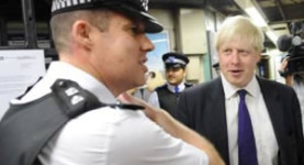 "Mr Johnson meets the police... ""You there, yes you, why is one not catching more criminels?!"""