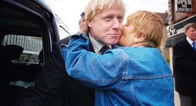 Boris Johnson: Isn't he FUNNY? Look at his FLOPPY HAIR and SILLY FACE! Legernd!!