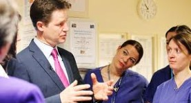 Health policy worries: Mr Clegg still has to scrutinise changes for his own party