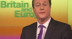 David Cameron delivers his speech on Europe this morning