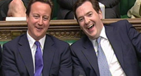 Laughing while the poor suffer: Mr Cameron and Mr Osborne
