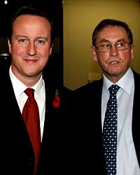 David Cameron and Tory peer Lord Ashcroft