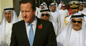 David Cameron chills out with his friends