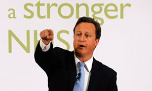 Fighting for a fairer future? David Cameron outlines the NHS reforms u-turns