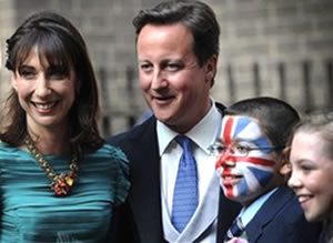 Smug: David Cameron and his Eurosceptic wife