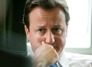 Mr Cameron looks a bit glum