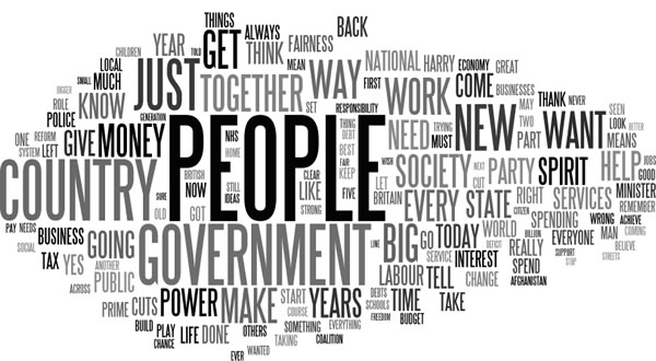 A wordle of Mr Cameron
