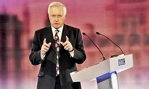 The host with the most: David Dimbleby eclipsed Adam Boulton and Alastair Stewart in the debate last night