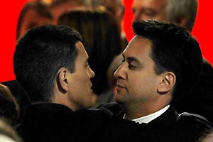 Ed Miliband consoles his brother