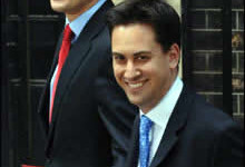 David and Ed Miliband in Downing Street