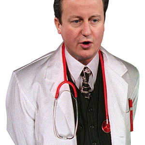 Dr Dickhead: David Cameron's health reforms have been spanked by everyone. Every. ONE