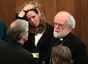 Dr Rowan Williams after the Church of England women bishops vote
