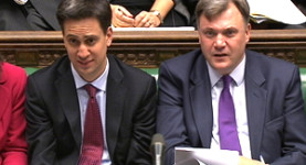 Political opportunists? Ed Miliband and Ed Balls in Parliament