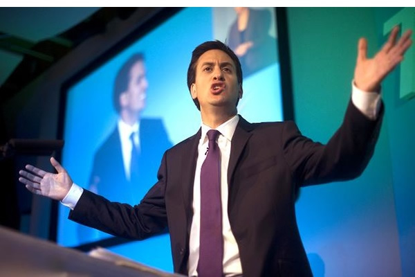 Ed Miliband demonstrates how big his lead is
