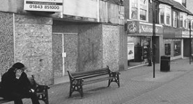 Desolate: An empty, derelict high street