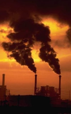 Dark days for the planet: Factories continue to pollute the environment