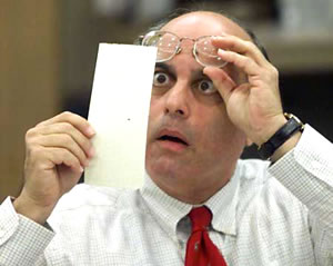 A ballot counter in 2015 can't believe it as he stumbles upon a Lib Dem vote