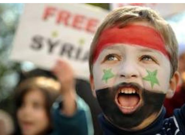 Fighting for freedom: A Syrian child implores the West to act