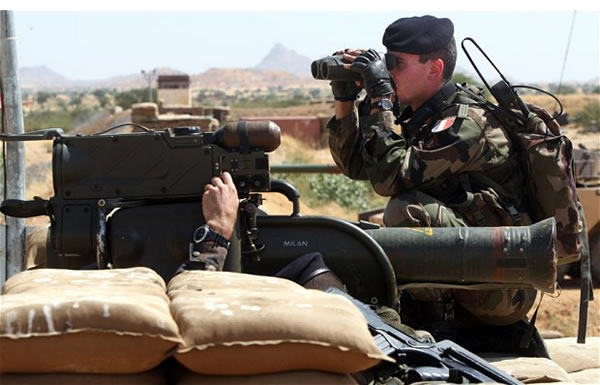 Heroes: French troops in Mali, soon to be joined by liberating forces from the UK