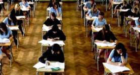 Controversy: Students sit GCSE exams in Wales