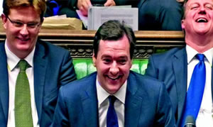 No laughing matter: George Osborne