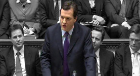 Not everything in black and white makes sense: Gideon Osborne delivers his budget last Wednesday