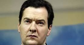 In it up to his neck: Gideon Osborne now faces a credit rating crisis