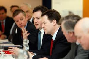 Mr Clegg in cabinet: But does anyone agree with Nick?