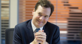 George Osborne looking rather pleased with himself