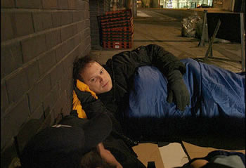 Slumming in: Housing minister Grant Shapps experiences homelessness for one night
