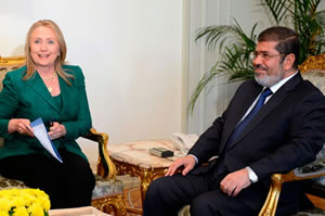 Hillary Clinton and Mohamed Morsi broker a truce over Gaza