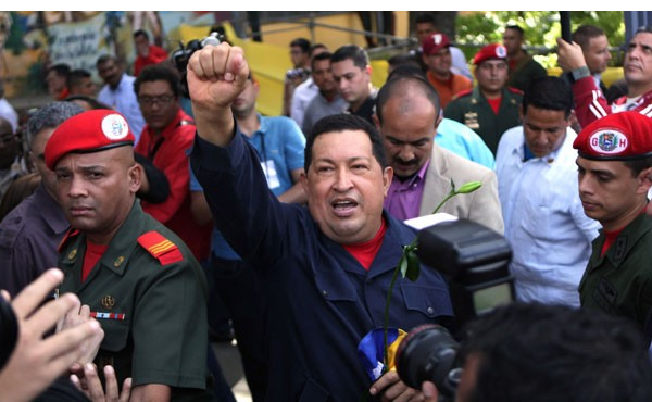Hugo Chavez, the newly re-elected President of Venezuela