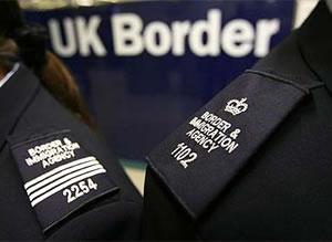 The UK border