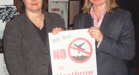 Just-ine say no: Jane Ellison and Justine Greening campaigning against the third runway