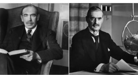 John Maynard Keynes and Neville Chamberlain