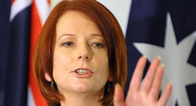 Under pressure: Embattled Australian PM Julia Gillard