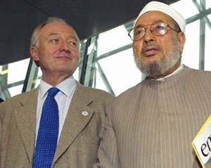 In league with extremists? Ken Livingstone is on very shaky ground over his relationship with Islamist thug Yusuf al-Qaradawi