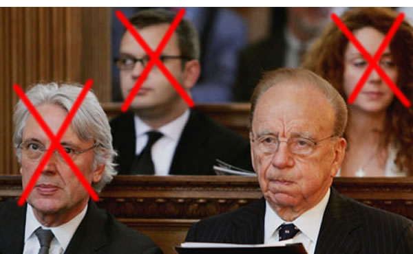 Last man standing: Only Rupert Murdoch remains of the four vagabonds at the heart of the scandal