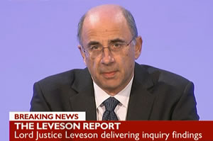 Moment of truth: Lord Justice Leveson delivers The Leveson Report