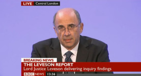 Lord Leveson delivers his Inquiry Report