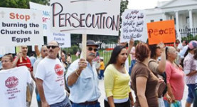 Enough is enough: Protesters march against the persecution of Christians