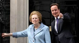Loathed right-wing Tory meets Mrs Thatcher...