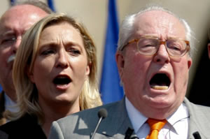 Marine Le Pen and her Jean-Marie Le Pen, quite possibly the grotesquest picture we