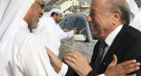 Laughing all the way to the Presidency: Crooked gobshites Mohammed bin Hammam and the depraved Swiss Sepp Blatter