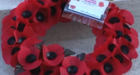 A National Front poppy wreath at the Cenotaph, 2012