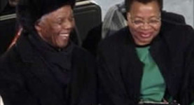 Nelson Mandela and his wife Graca Machel at the World Cup Final last Sunday