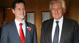 The coalition pro-Europeans: Nick Clegg and Lord Heseltine